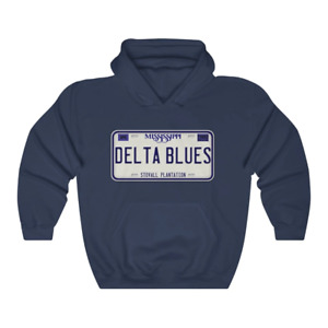 Mississippi Delta Blues Stovall Plantation License Plate Unisex Hoodie