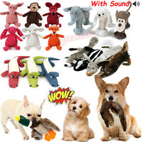 Pet Dog Funny Puppy Chew Play Teething Treat Squeaker Squeaky Plush Sound Toys