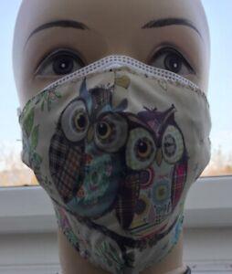 1 x FFP2 Maske CE0598 + 1 x Stoffmaske Eulen Behelfsmaske waschbar