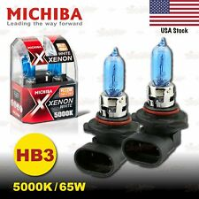 HB3 9005 MICHIBA 65W 5000K Xenon SUPER WHITE Halogen HeadLight Bulbs HIGH BEAM