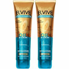 2 L'Oreal Elvive Extraordinary Oil Lightweight Oil in Cream Leave In Conditioner