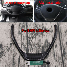 Carbon Fiber Steering Wheel Cover Trim For BMW 1 3 Series F30 318 320 F20 116