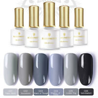 6 pcs/set Nail Gel Polish Gray Series UV LED Lamp  BORN PRETTY Grey