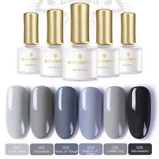 6 pcs/set Nail Gel Polish Gray Series UV LED Lamp  BORN PRETTY Grey