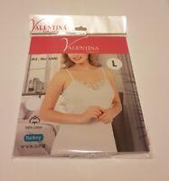 Ladies Plain Cotton Vest Top Lace Trim Cami Strappy Camisole new STRAPS VNECK