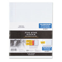 Five Star Reinforced Filler Paper 20lb College Rule 11 x 8 1/2 White 100 Sheets