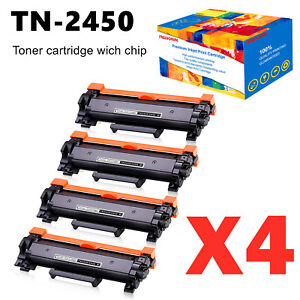 4X TN-2450 CHIPPED Toner for Brother MFC-L2713DW MFC-L2730DW MFC-L2750DW L2350DW