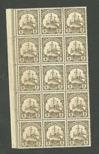 Block Of 15 German South West Africa 3 Pfennig Stamps Scott #13 Kaisers Yacht