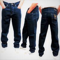 New Mens Georgio Peviani G Denim True Star Blue Dark Wash Comfort Fit Jeans