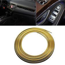 5M 16.4ft AUTO ACCESSORIE CAR Universal Interior Exterior Decorative GOLD Strip