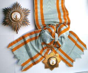 Comores Ordre de l'Etoile d'Anjouan Grand croix Plaque médaille colonial Afrique