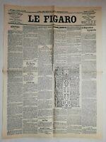 N888 La Une Du Journal Le Figaro 14 Avril 1900 l'exposition inaugurée