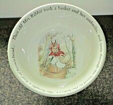 "Wedgwood England BEATRIX POTTER PETER RABBIT ""Old Mrs Rabbit"" Cereal Bowl"