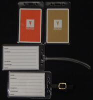 Set of (2) Luggage tags w/ Pontiac Wide-Track playing card