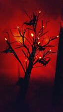 Spooky Halloween Spooky Light Up GlittrTree/Bats Lights Party Prop12 orange LEDs