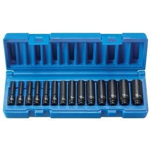 """1/4"""" Surface Drive 14-Piece Deep Metric Set GRE9714MD Brand New!"""