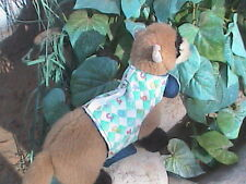 Ferret Harness - Colorful Numbers on Teal Checkerboard - Med