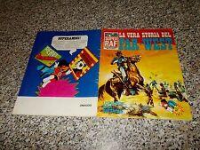 ALBUM LA VERA STORIA DEL FAR WEST SUPER RAF 1973 COMPLETO BELLO TIPO PANINI EDIS