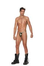 Men's G-String Pouch T Back Dance Wear Adult Male Man Underwear Camouflage Army