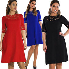 PLUS SIZE Summer Spring Womens Lace Prom Evening Cocktail Party Formal Dress New