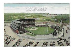 Vintage Postcard Milwaukee Braves Stadium National League Baseball Wisconsin WI