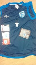 England football World Cup Umbro Shirt Top / Leather Wallet / Wristbands Soccer