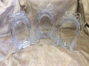 3 Vintage Home Beautiful Crystal Wedding Bell Frames- Made in Japan