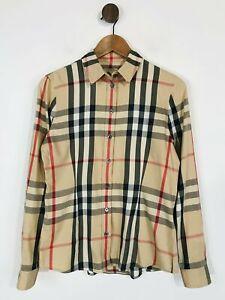 Burberry Brit Women's Nova Check Button-Up Shirt   S UK8   Beige