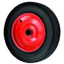 350mm HEAVY DUTY SOLID RUBBER STEEL CENTRE AGRICULTURAL WHEEL
