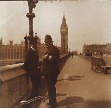 Londres Westminster Royaume-Uni UK Photo Stereo Plaque de verre Vintage