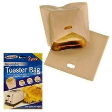 Seal a Pack 2pk Re-usable Sandwich Toaster Bags *FREE POSTAGE*