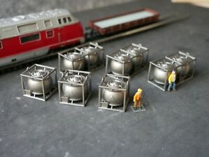 Spur TT  Chemietank2  , Ladegut , 9 Chemietanks