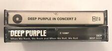 2x Deep Purple Tape Lot In Concert 2 Paper Label Import + When We Rock Free SH