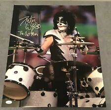 Kiss Peter Criss Signed 16x20 JSA Authenticated