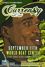 CURREN$Y 2013 SAN DIEGO CONCERT TOUR POSTER -Currency, New Orleans Hip Hop Music