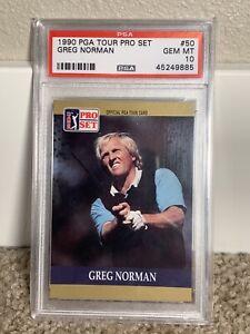 1990 Pro Set Greg Norman Rookie Card PSA 10 #50