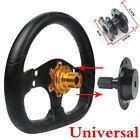 Universal Car Steering Wheel Black Quick Release Hub Racing Adapter Snap Kit