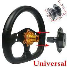 Universal Car Steering Wheel Black Quick Release HUB Racing Adapter Snap Kit
