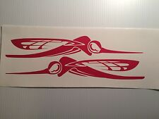 2  - 36 inch Skeeter  Boat decals  RED Marine Vinyl --- other colors available