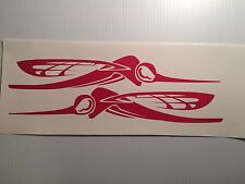 2  - 36 inch Skeeter  Boat decals  RED Marine Vinyl --- other colors by request