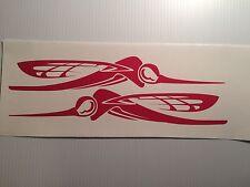 2  - 36 inch Skeeter  Boat decals  RED Marine Vinyl