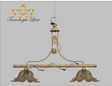 lampadario in ferro bilancia 2 luci decoro antichizzato cucina,taverna,sala,salo
