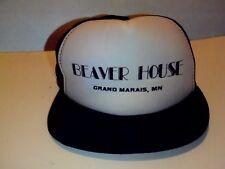 VTG Beaver House Snapback Mesh Trucker Hat Grand Marais Minnesota