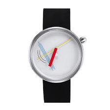 "Projects Watches ""Diagram"" Quarzo Acciaio Spazz Bianco Silicone Orologio Unisex"