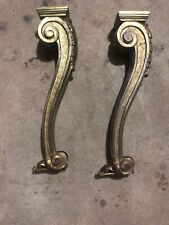 Antique Table Legs Two Solid Brass
