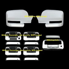 FOR 09 10 11 12 13 14 Ford F150 Chrome 4 Door Handle Tailgate Full Mirror Covers