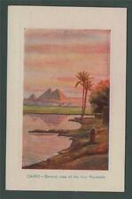 CAIRO General view of the four Pyramids. Vintage  postcard CA71