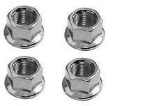 "Bicycle Wheel BMX/MTB Bike AXLE NUTS  3/8"" x 26tpi  Silver - Set of Four"