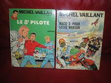 MICHEL VAILLANT - LOT 2 TOMES N°8 ET 14 -EDITIONS ANCIENNES TITRE EN GROS AU DOS