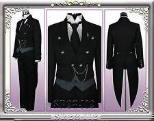 Black Butler Kuroshitsuji Sebastian Cosplay Costume anime